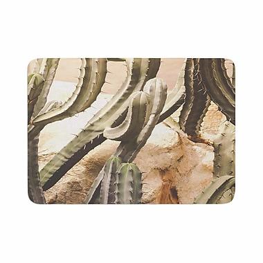 East Urban Home Ann Barnes Cactus Jungle Memory Foam Bath Rug; 0.5'' H x 17'' W x 24'' D
