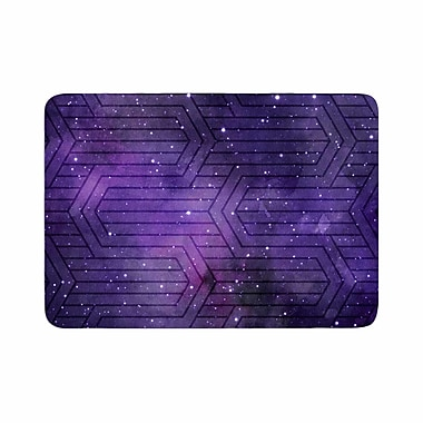 East Urban Home Matt Eklund Cosmic Labyrinth Memory Foam Bath Rug; 0.5'' H x 17'' W x 24'' D