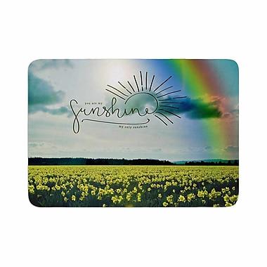 East Urban Home Robin Dickinson You Are My Sunshine,Rainbow Memory Foam Bath Rug