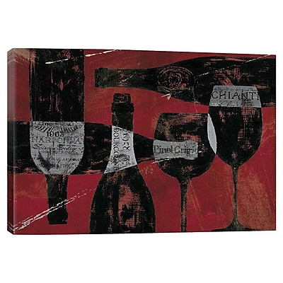 iCanvas 'Wine Selection' Graphic Art Print on Canvas; 12'' H x 18'' W x 0.75'' D