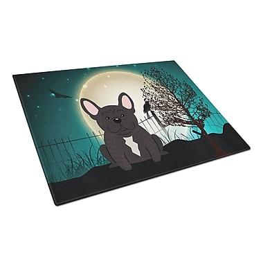 Caroline's Treasures Scary Halloween Glass French Bulldog Cutting Board; Brindle