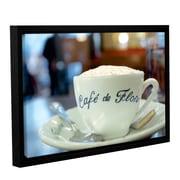 Ophelia & Co. 'Caf  de Flore' Framed Photographic Print on Canvas; 32'' H x 48'' W x 2'' D