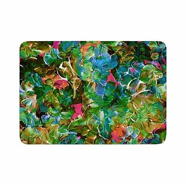 East Urban Home Ebi Emporium Bloom On! Tropical Memory Foam Bath Rug; 0.5'' H x 24'' W x 36'' D