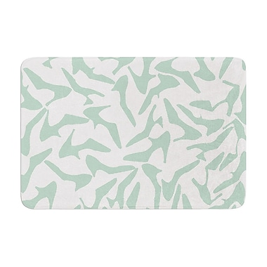 East Urban Home Project M Shoe Memory Foam Bath Rug; Mint