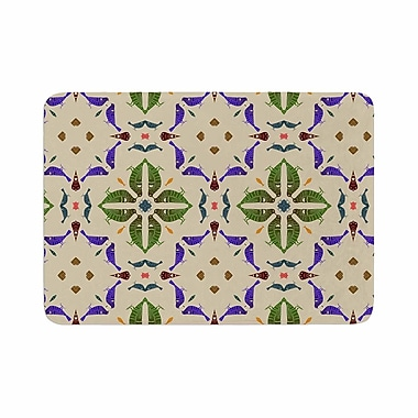 East Urban Home Laura Nicholson Kissing Budgies GeometricMemory Foam Bath Rug