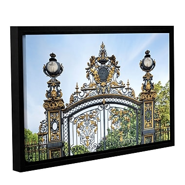 Ebern Designs 'Park Monceau Gates' Framed Photographic Print on Canvas; 16'' H x 24'' W x 2'' D