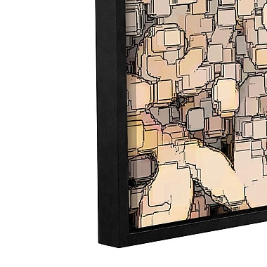 Ebern Designs 'Chaos B' Framed Graphic Art Print on Canvas; 36'' H x 24'' W x 2'' D