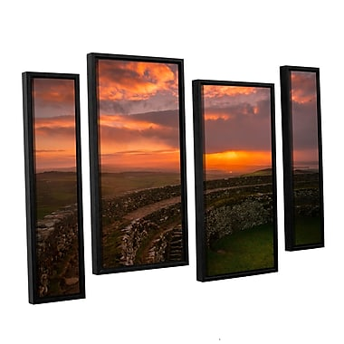 Ebern Designs 'Grianan Fort Sunset Dongal' Photographic Print Multi-Piece Image on Canvas