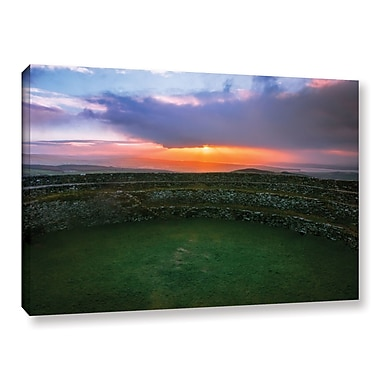 Ebern Designs 'Grianan of Aileach' Photographic Print on Canvas; 12'' H x 18'' W x 2'' D