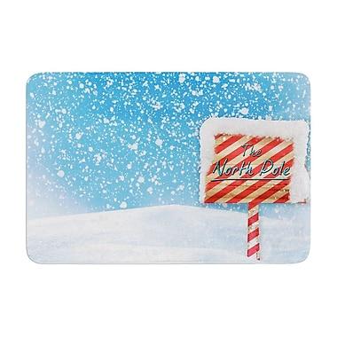 East Urban Home Snap Studio North Pole Snow Memory Foam Bath Rug; 0.5'' H x 24'' W x 36'' D