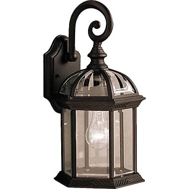 Astoria Grand Caroline 1-Light Outdoor Wall Lantern; Painted Black