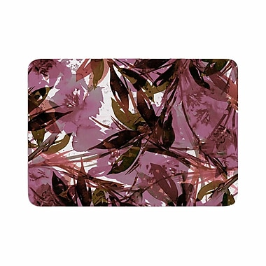 East Urban Home Ebi Emporium Floral Fiesta Mauve Pattern Watercolor Memory Foam Bath Rug