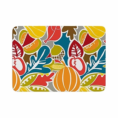 East Urban Home Agnes Schugardt Fall Harvest Food Memory Foam Bath Rug; 0.5'' H x 24'' W x 36'' D