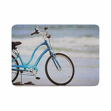 East Urban Home Angie Turner Beach Bike Memory Foam Bath Rug; 0.5'' H x 17'' W x 24'' D