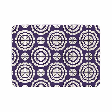 East Urban Home Nacho Filella Flowers Floral Memory Foam Bath Rug; 0.5'' H x 24'' W x 36'' D