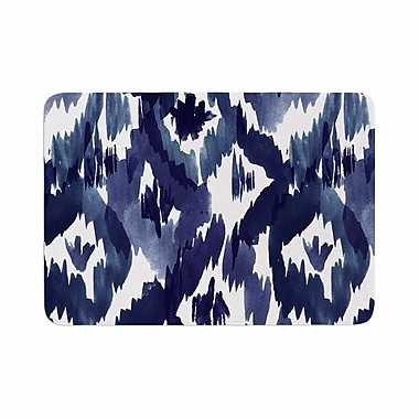 East Urban Home Crystal Walen Indigo Ikat Diamond Memory Foam Bath Rug; 0.5'' H x 24'' W x 36'' D