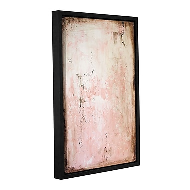 Latitude Run 'Pink Stone' Framed Painting Print on Canvas; 24'' H x 16'' W x 2'' D