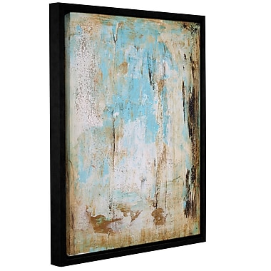 Latitude Run 'Water Stone' Framed Painting Print on Canvas; 32'' H x 24'' W x 2'' D