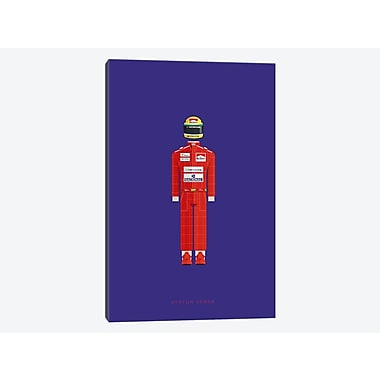 East Urban Home 'Sports Legends Series: Ayrton Senna' Graphic Art Print on Canvas
