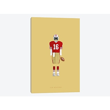 East Urban Home 'Sports Legends Series: Joe Montana' Graphic Art Print on Canvas