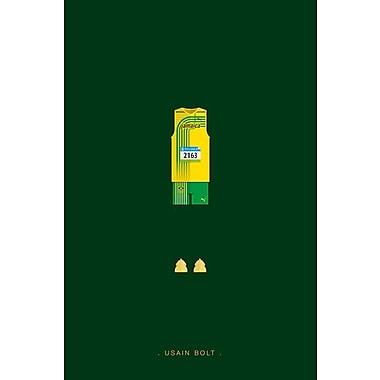 East Urban Home 'Sports Legends Series: Usain Bolt' Graphic Art Print on Canvas