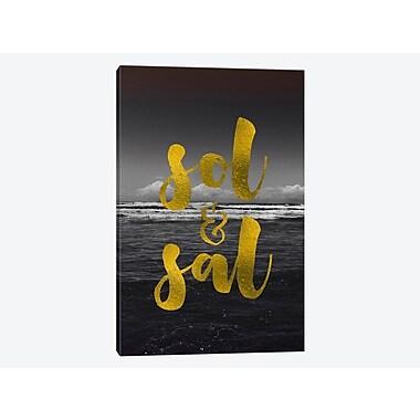East Urban Home 'Sol & Sal' Textual Art on Canvas; 40'' H x 26'' W x 0.75'' D