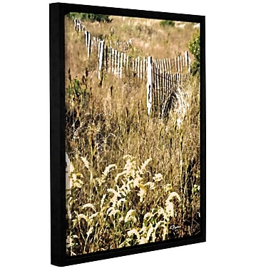 Ebern Designs 'White Picket Fence V' Framed Painting Print on Canvas; 24'' H x 18'' W x 2'' D