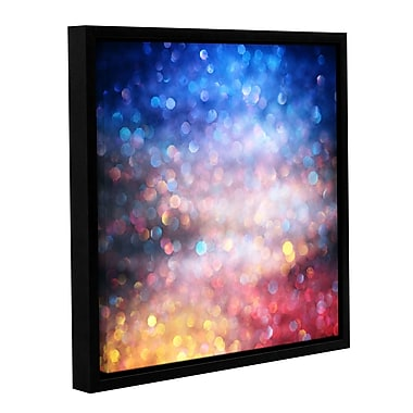 Ebern Designs 'Sunrise Abstract' Framed Photographic Print on Canvas; 10'' H x 10'' W x 2'' D