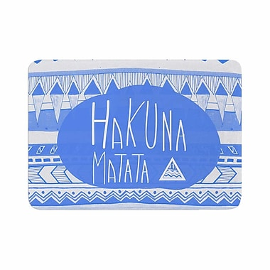 East Urban Home Vasare Nar Hakuna Matata Azure Illustration Memory Foam Bath Rug