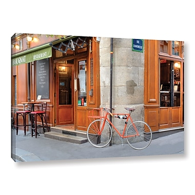 Ivy Bronx 'Orange Bicycle Paris' Photographic Print on Canvas; 8'' H x 12'' W x 2'' D