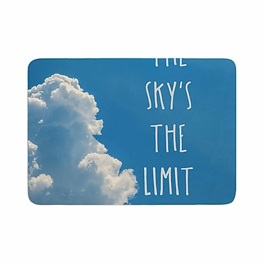 East Urban Home Bruce Stanfield the Skys the Limit Square Typography Memory Foam Bath Rug