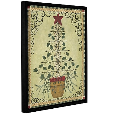 The Holiday Aisle 'Topiary Tree' Framed Painting Print on Canvas; 32'' H x 24'' W x 2'' D