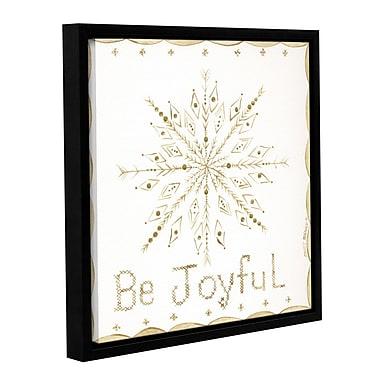 The Holiday Aisle 'Be Joyful' Framed Painting Print on Canvas; 14'' H x 14'' W x 2'' D