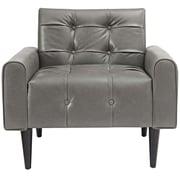 Ivy Bronx Hooper Vinyl Accent Club Chair; Gray