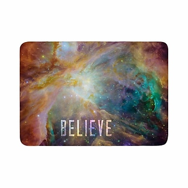 East Urban Home Bruce Stanfield Orion Nebula Believe Memory Foam Bath Rug; 0.5'' H x 17'' W x 24'' D