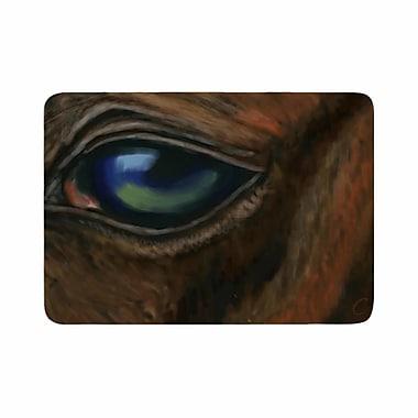 East Urban Home Cyndi Steen Arabian Eye Animals Memory Foam Bath Rug; 0.5'' H x 17'' W x 24'' D