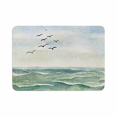 East Urban Home Cyndi Steen Flock Flying Low Coastal Memory Foam Bath Rug; 0.5'' H x 24'' W x 36'' D