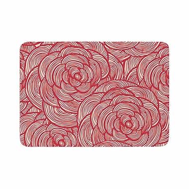 East Urban Home Roses Memory Foam Bath Rug; 0.5'' H x 17'' W x 24'' D