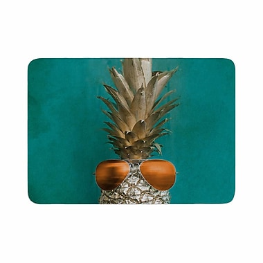 East Urban Home Chelsea Victoria 24 Karat Pineapple Digital Memory Foam Bath Rug