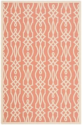 Martha Stewart Rugs Martha Stewart Villa Screen Orange/Beige Area Rug; 4' x 5'7''