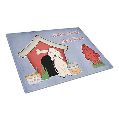 Caroline's Treasures Dog House Glass Bedlington Terrier Cutting Board; Sandy