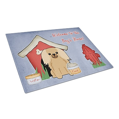 Caroline's Treasures Dog House Glass Pekingnese Cutting Board; Fawn/Sable