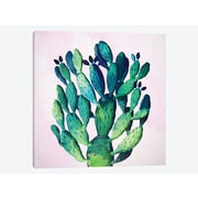East Urban Home 'Cactus Plant' Graphic Art Print on Canvas; 37'' H x 37'' W x 0.75'' D