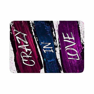 East Urban Home Noonday Design Crazy in Love Magenta Painting Memory Foam Bath Rug