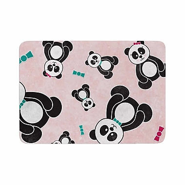 East Urban Home Noonday Design Panda Freefall in Memory Foam Bath Rug; 0.5'' H x 24'' W x 36'' D
