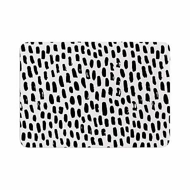 East Urban Home Ink Dots Memory Foam Bath Rug; 0.5'' H x 24'' W x 36'' D