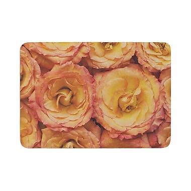 East Urban Home Kristi Jackson Bed of Roses Coral Memory Foam Bath Rug; 0.5'' H x 24'' W x 36'' D