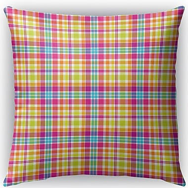 Latitude Run Harloe Plaid Indoor/Outdoor Throw Pillow; 26'' H x 26'' W x 4'' D