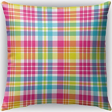 Latitude Run Harloe Plaid Indoor/Outdoor Throw Pillow; 16'' H x 16'' W x 4'' D