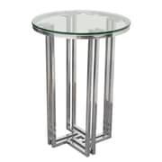 Rosdorf Park Fletcher Round Polished Stainless Steel End Table
